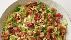 Brussels Sprout Slaw with Honey-Mustard Dressing – brussels sprouts New Recipes, Salad Recipes, Cooking Recipes, Favorite Recipes, Recipies, Dinner Recipes, Brussel Sprout Slaw, Sprouts Salad, Sprouts Recipe