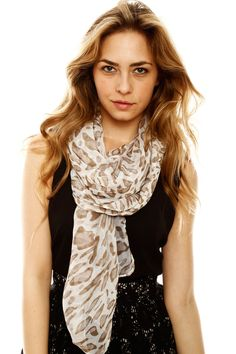 just a touch of subtle leopard. Gauzy Scarf