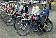 1967 Swedish nationals in Vasteras, Torsten Hallman and Ake Jonsson before the start Mx Bikes, Cool Bikes, Vintage Bikes, Vintage Motorcycles, Enduro Motocross, Off Road Bikes, Moto Cross, Off Road Racing, Vintage Motocross