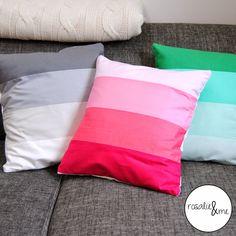 Rosalie&me: Bunt und Glücklich - Kissenbezüge; Color me happy; V&Co; Cushions; Blockstreifen