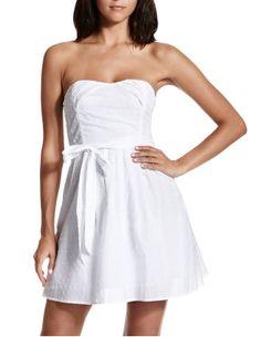 Belted Swiss Dot Tube Dress