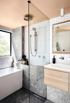 apartment bathroom Shannon Voss apartment bathroom renovation threw up some challenges, from strata hassles to space limitations. This is what he learnt Bathroom Renos, Bathroom Fixtures, Master Bathroom, Bathroom Ideas, Bathroom Showers, Small Bathroom Plans, Bathroom Lighting, Bathroom Inspo, Budget Bathroom