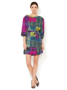 Silk Dawn Peasant Dress by Catherine Malandrino