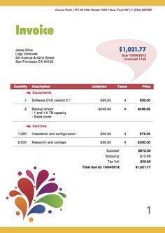 itemized billing statement template invoice pinterest