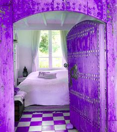 purple entrance, wow!