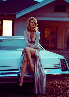 "januaryjonesdaily: "" January Jones photographed by Vincent Peters for Vogue Italia, August 2014 """