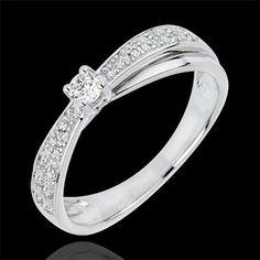 Bague Diamant Solitaire Diaphane - diamant 0.1 carat : bijoux Edenly