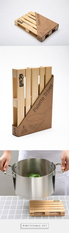 Palette Trivet - Hot Pad - Packaging of the World - Creative Package Design Gallery - http://www.packagingoftheworld.com/2016/03/palette-trivet-hot-pad.html