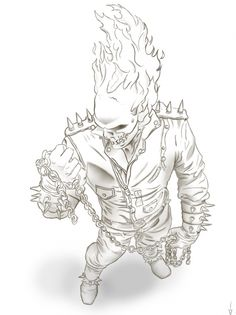Free Ghost Rider Coloring Page  Superheroes Coloring Pages