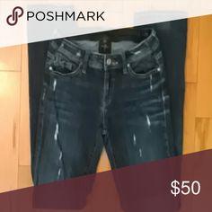 """Genetic Denim """"The Liam"""" Fit Straight Jeans Destructed denim straight leg jeans.  33"""" inseam, Size 28. 98% cotton, 2% elastan.  Excellent condition Genetic Denim Jeans Straight Leg"""