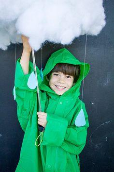 Rain Cloud Halloween Costume - Just add raincoat