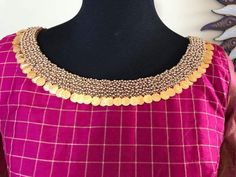 Latest Jeweled Blouse designs for 2019 Kasu coin Embellished Blouse Design Netted Blouse Designs, Pattu Saree Blouse Designs, Fancy Blouse Designs, Dress Neck Designs, Bridal Blouse Designs, Hand Work Blouse Design, Sari Design, Designer Blouse Patterns, Necklace Designs