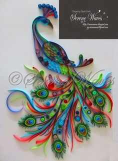 Serene Waves: Project 'Mayur' - Quilled Peacock