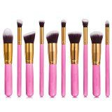 Makeup Brushes: iLoveCos Professional Cosmetic Brush Set for Liquid or Powder Pieces Gloden Pink with Velvet Carry Bag) Cosmetic Brush Set, Makeup Brush Set, Beauty Products Gifts, Best Makeup Products, It Cosmetics Brushes, Makeup Cosmetics, Makeup Blender, Brush Sets, Makeup Obsession