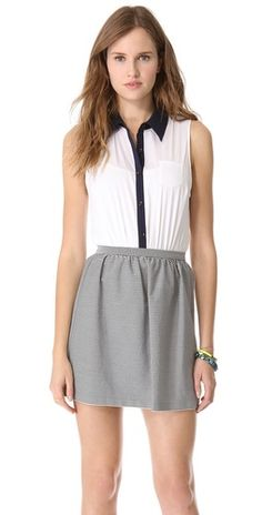 Alice + Olivia Sleevless Bodysuit and Skirt // #fashion #outfit #clothes #style #top #skirt #cute