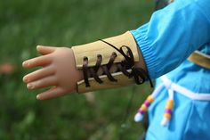Arts and Crafts for your American Girl Doll: Archery Arm Guard for American Girl Doll