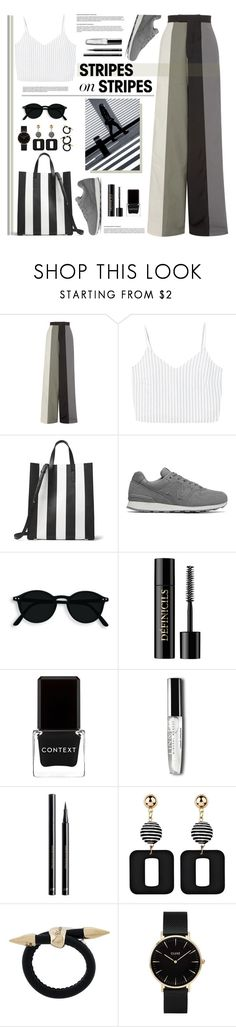 """Stripes On Stripes"" by tamara-p ❤ liked on Polyvore featuring Rick Owens, MANGO, Michael Kors, New Balance, Lancôme, Context, H&M, Bea Bongiasca, CLUSE and stripesonstripes"