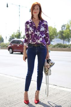 NYFW Editor Street Style: Taylor Tomasi Hill's Floral Shirt | The Front Row View
