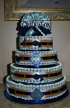 Money cake I made for Chris' High School Graduation!