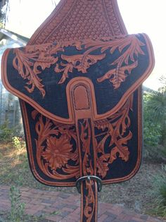Saddle Bags hand tooled leather by HammondsLeatherworks on Etsy, $350.00