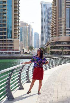 Dubaj Marina i bluzka uszyta z wykroju Burda Szycie krok po kroku 01/2018 Burda Patterns, Moschino, Safari, Tommy Hilfiger, Shoulder Dress, Blog, Dresses, Fashion, Vestidos