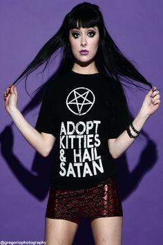 I obviously need this. Cause kitties. And Satan.