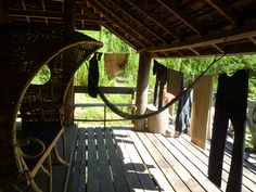 Balcony at the accommodation Outdoor Furniture, Outdoor Decor, Elephants, Laos, Hammock, Balcony, Home Decor, Terrace, Homemade Home Decor
