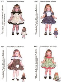 For Patti Playpal Four Dress Patterns Set A