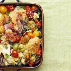 Tom Kerridge's Mediterranean Chicken One that even the kids love! Healthy Eating Recipes, Diet Recipes, Cooking Recipes, Tasty Meals, Diet Meals, Delicious Recipes, Dessert Recipes, Mediterranean Chicken, Kitchen
