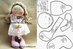 !!!!♥ Feltro-Aholic Moldes e tutoriais em feltro: 4 moldes de bonecas que você precisa ter