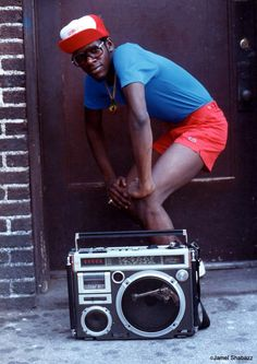 Radio Man, Brooklyn, New York, 1984 – Photo by Jamel Shabazz