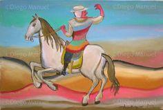 Gaucho a caballo 6, acrylic on canvas, 44 x 30 cm. #followart #gaucho #argentina  By Diego Manuel