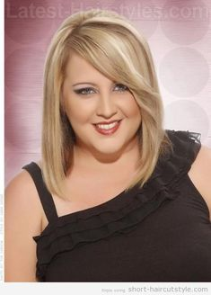 short hairstyles for fat faces and double chins - Google Search More