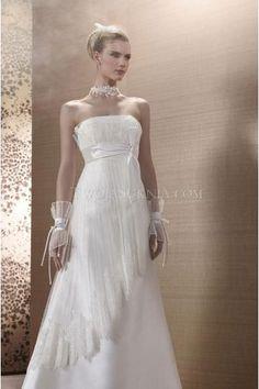 Elegant Strapless Chiffon Mouwloos Trouwjurken Bruidsjurken Collectie