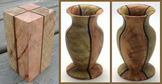Great way to use a few blocks of smaller turning stock to make something cool...