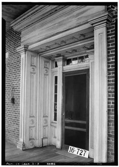 Front Elevation, Door - Kirkpatrick House, Oak Street, Cahaba, Dallas County, Alabama. Circa 1934. Gothic Revival Architecture, Southern Architecture, Architecture Details, Dallas County, Sleeping Porch, Antebellum Homes, Oak Street, Old Mansions, Architectural Photographers
