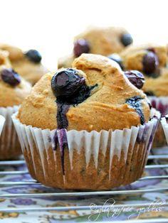 Gluten free blueberry corn muffins by Karina