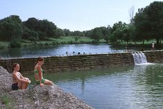 Swim at Blanco State Park in Blanco, Texas. Activities include camping, swimming, picnicking, hiking, nature study, boating (electric motors only), and fishing. Tube, canoe and kayak rentals are available at the park.