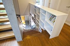 More staircase shelving