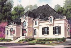 Eplans Chateau House Plan - Distinctive Exterior - 4553 Square Feet and 4 Bedrooms(s) from Eplans - House Plan Code HWEPL11372