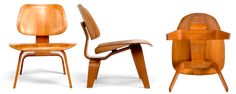 Eames curved molded plywood 'Lounge Chair' (1946) made by Herman Miller, c