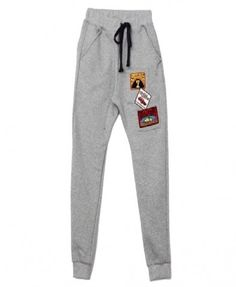 Sweat Pants with Patch Details