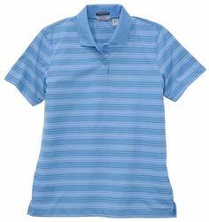 $29.99 cool Women's River's End UPF 30+ Jacquard Stripe Polo