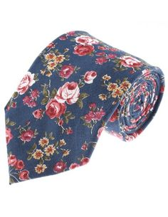 FLATSEVEN Mens Flower Printed Rose Floral Pattern Cotton Neck Tie (YA013) Navy FLATSEVEN http://www.amazon.com/dp/B00KRBNNLK/ref=cm_sw_r_pi_dp_p8Cnvb0BC4657