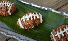 Chocolate rice krispie football treats