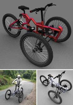 Tri It, You'll Like It: 16 Amazing Tricycle Concepts - Page 3 of 3 - WebEcoist Trike Scooter, Tricycle Bike, Trike Bicycle, Cruiser Bicycle, Cargo Bike, Bike Rollers, Motorized Tricycle, Three Wheel Bicycle, Electric Bike Kits