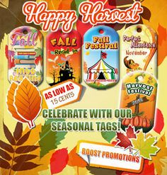 Happy Harvest! Brag Tags for as low as .15 cents each!