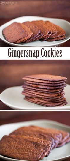 Best Gingersnap Cookies ever! Ultra-thin gingersnap cookies with molasses and ground ginger, baked until lightly browned and crispy. ~ SimplyRecipes.com