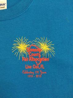 Screen Print - 2 Color Left Chest - Suwannee County Fair - Live Oak, FL