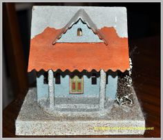 Vintage Christmas Putz House ~ Christmas Village House